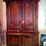 A restored french 17th century oak armoire